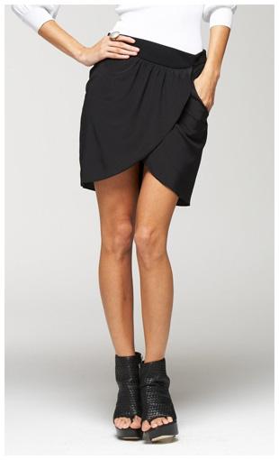 bebe-silky-tulip-skirt-black-alexander-wang-knockoff